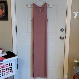 Blush tank maxi dress